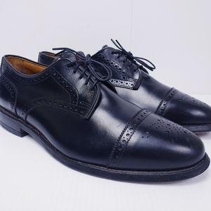 Allen Edmonds Sanford Men Black Leather Cap Toe